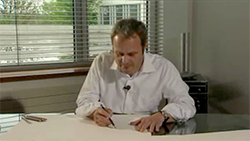 Wolfgang Egger, Audi Group Head of Design, draws and explains the Audi A5 Sportback.