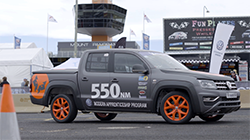 Volkswagen's apprentice-built Amarok V6 has completed a blazing hot lap of Mount Panorama in 2 minutes, 57.24 seconds, piloted by race driver Renato Loberto.  The race-ready uber ute set tongues wagging on the Mountain as it pushed speeds well in excess of 200km/h...