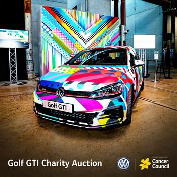 Volkswagen auctions iconic Golf GTI on eBay to aid the Cancer Council