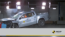 Autonomous emergency braking is fitted as standard on all X-Class variants, helping it achieve a 5 star ANCAP