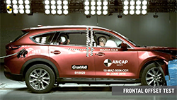 The Mazda CX-8 has achieved a 5 star ANCAP safety rating – the first model to be tested and rated by ANCAP to the latest, most stringent 2018 assessment protocols.