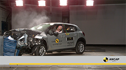 The Citroen C3 fell just shy of today's safety expectation due to its inability to actively detect and prevent pedestrian contact combined with head injury risk.