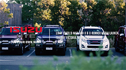 19MY Isuzu D-MAX, MU-X & X-RUNNER Media Launch, Torquay Victoria, May 2019.
