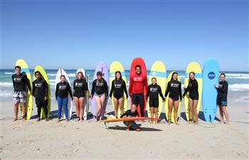 Bridgestone celebrates six months to Tokyo 2020 with surf school takeover