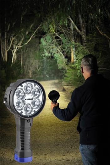 More light from compact new Narva 'Colt 1000' L.E.D handheld spotlights