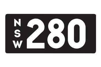 New South Wales number plate '280'