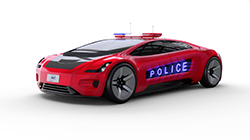The new police car could look like this rendering by transportation design company Delineate.