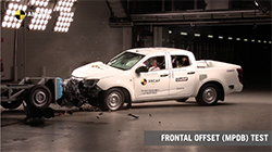 All variants of the Isuzu D-MAX (utility) have achieved the maximum 5 star ANCAP safety rating against the latest test and rating criteria – including the fitting of a new centre airbag.