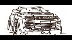 Press footage provided depicts an Amarok W580 pre-production prototype...