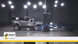 The new Land Rover Defender showed strong performance across the four key areas of safety assessment.