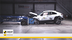 The Mazda MX-30 enters the Australasian market with a 5 star ANCAP safety rating, demonstrating high levels of safety performance across the four key areas of assessment...