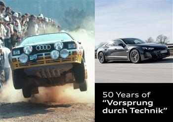 """A Slogan with History: Audi marks 50 Years of """"Vorsprung durch Technik"""""""
